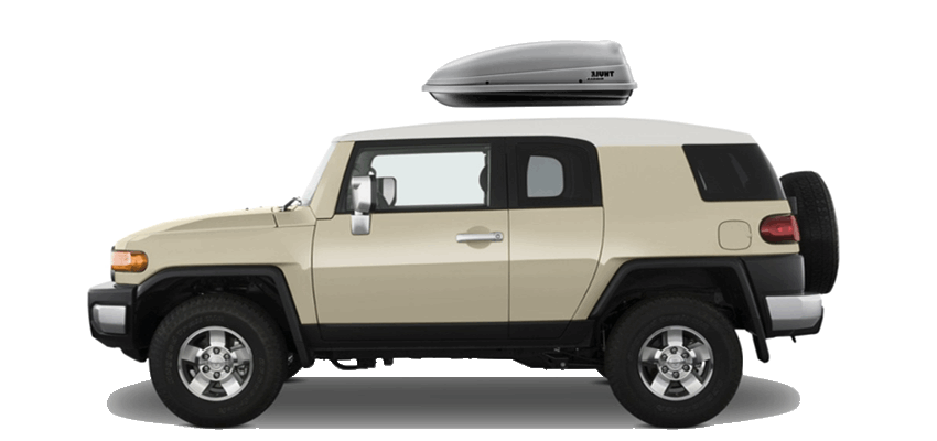 ... FJ Cruiser 54 x 15.5 x 25 in 8 cu Rooftop cargo box with 8 cubic feet of storage | Ideal for carrying c&ing gear and golf clubs | Side-opening design ...  sc 1 st  MR-BOX & Toyota FJ Cruiser Rooftop Cargo Box